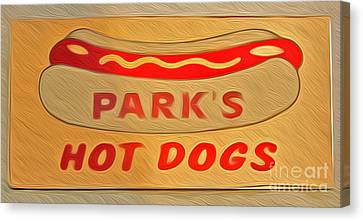 Park's Hot Dogs Canvas Print by Gregory Dyer