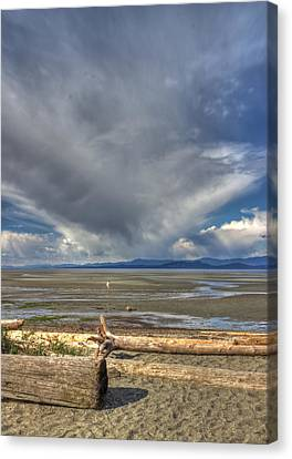 Parksville Beach - Low Tide Canvas Print by Randy Hall