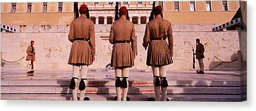 Bravery Canvas Print - Parliament, Athens, Greece by Panoramic Images