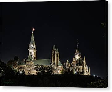 Canvas Print featuring the photograph Parliament From The Park by Robert Culver