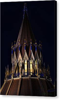 Canvas Print featuring the photograph Parliament Pinnacle  by Robert Culver