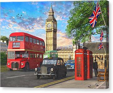 Parliament Square Canvas Print by Dominic Davison