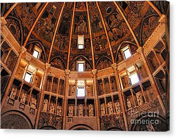 Parma Baptistery Canvas Print by Nigel Fletcher-Jones