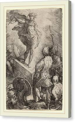 Parmigianino Italian, 1503-1540, The Resurrection Of Christ Canvas Print