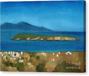 Paros Plain Air Canvas Print by Kostas Koutsoukanidis