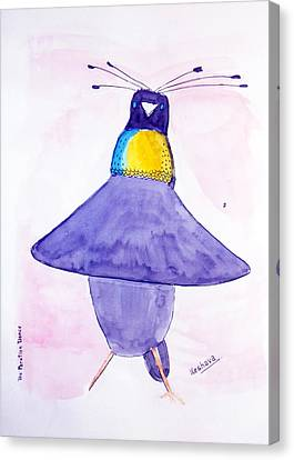 Parotia Dancing - Bird Of Paradise Canvas Print by Keshava Shukla