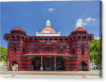 Parque De Bombas Fire Station In Ponce Puerto Rico Canvas Print