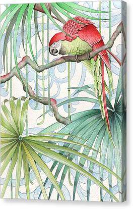 Parrot, 2008 Canvas Print by Jenny Barnard