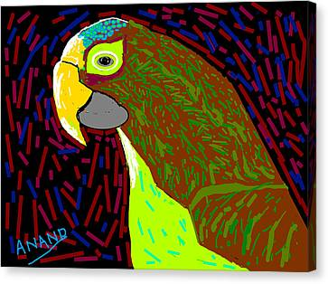 Parrot-3 Canvas Print by Anand Swaroop Manchiraju