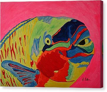 Parrotfish Canvas Print by Tony Baker