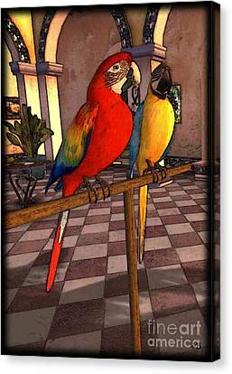 Parrots1 Canvas Print by Susanne Baumann