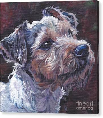 Parson Russell Terrier Canvas Print by Lee Ann Shepard