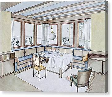 Part Of A Living Room, From Modern Canvas Print by W. Schneider