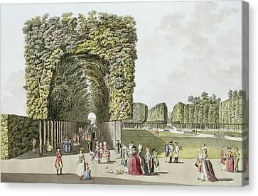 Part Of The Garden At Ausgarten Canvas Print by Johann Ziegler