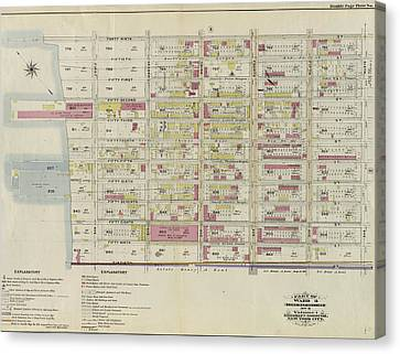 Part Of Ward 8. Land Map Section, No. 3, Volume 1 Canvas Print by Litz Collection