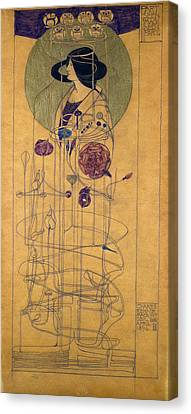 Disk Canvas Print - Part Seen, Imagined Part, 1896 by Charles Rennie Mackintosh