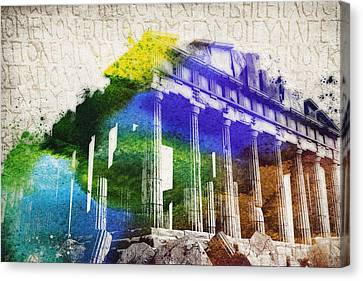 Parthenon Canvas Print by Aged Pixel