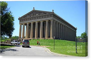 Parthenon In Nashville Canvas Print by Paula Talbert