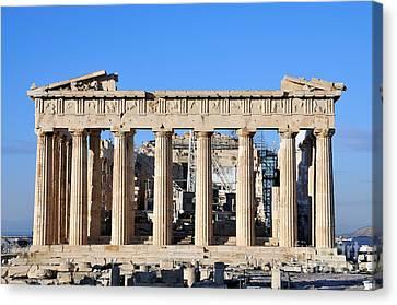 Parthenon Temple Canvas Print by George Atsametakis