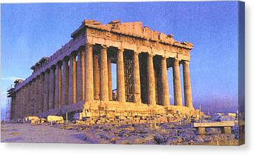 Parthenon Canvas Print by Troy Caperton