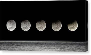 Partial Lunar Eclipse Canvas Print by Luis Argerich