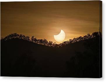 Partial Solar Eclipse Canvas Print by Martin Rietze