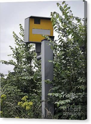 Traffic Enforcement Canvas Print - Partially Hidden Speed Camera by Robert Brook