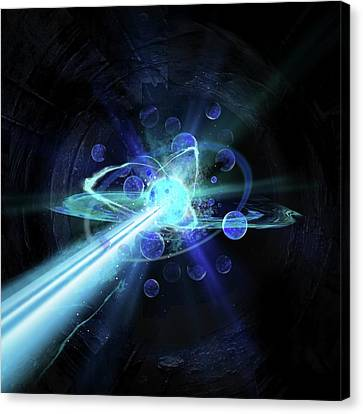 Particle Collision Canvas Print by Harald Ritsch