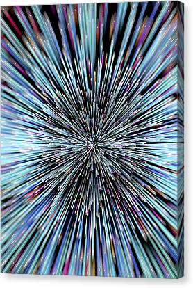 Particle Rays Canvas Print by Alfred Pasieka