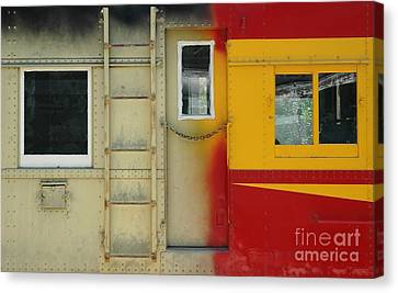 Partly Painted Canvas Print by Dan Holm