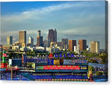 Atlanta Braves Baseball Turner Field  Canvas Print by Reid Callaway