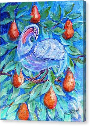 Partridge In A Pear Tree  Canvas Print by Trudi Doyle