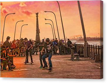 Party At The Pier Canvas Print by Terry Cork