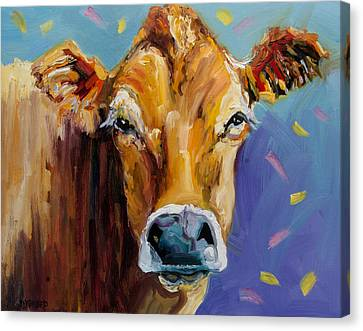 Party Cow Canvas Print