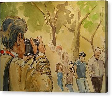 Party Photographer Canvas Print by Juan  Bosco