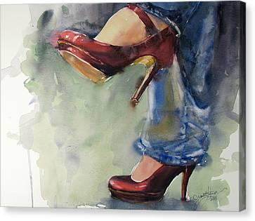 Party Shoes Canvas Print
