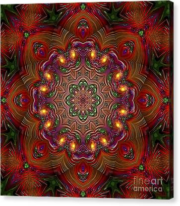 Canvas Print featuring the digital art Party Time 3 D Art by Hanza Turgul