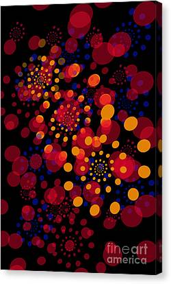 Party Time Abstract Painting Canvas Print by Claudia Ellis