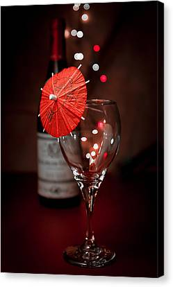 Wine Glasses Canvas Print - Party Time Still Life by Tom Mc Nemar