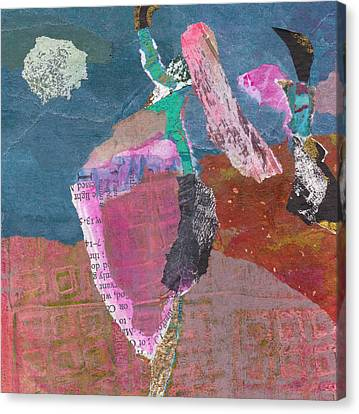 Canvas Print featuring the mixed media Pas De Deux by Catherine Redmayne