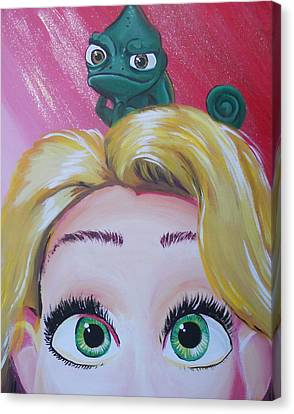 Pascal And Rapunzel Canvas Print by Lisa Leeman