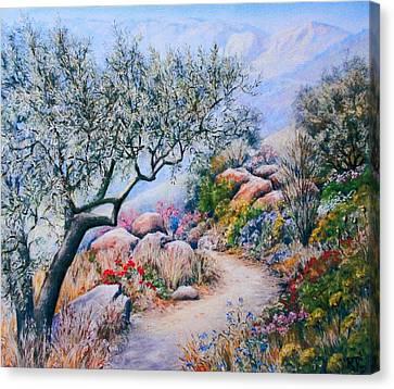 Paseo De Flores Canvas Print