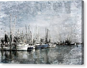 Pass Christian Harbor Canvas Print by Joan McCool