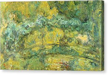 Passage On Waterlily Pond Canvas Print by Claude Monet