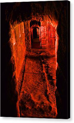 Passage To Hell Canvas Print by Karol Livote