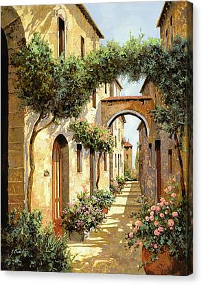 Warm Summer Canvas Print - Passando Sotto L'arco by Guido Borelli