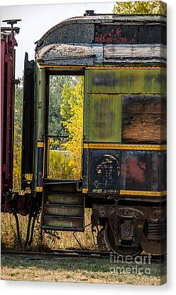 Canvas Print featuring the photograph Passenger Car Entrance by Sue Smith