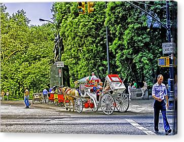 Passenger Cars Only - Central Park Canvas Print by Madeline Ellis