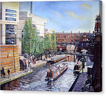 Towpath Canvas Print - Passenger Cruise Oil On Canvas by Kevin Parrish