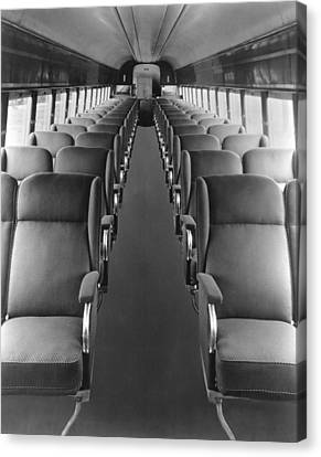 Passenger Train Interior Canvas Print by Underwood Archives